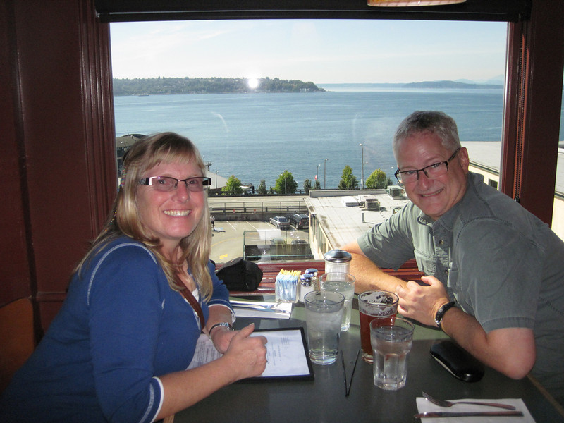 Lunch at Lowell's overlooking Puget Sound.