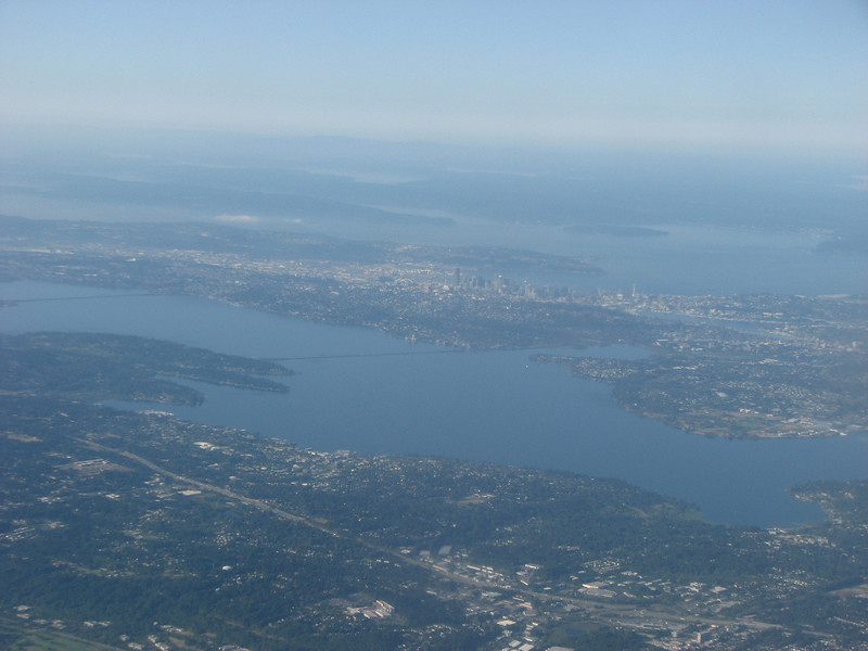 Lake Washington on our approach.