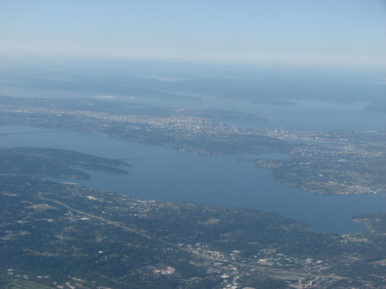 Lake Washington on our approach.