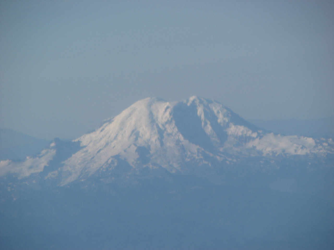 Mount Baker from our plane.