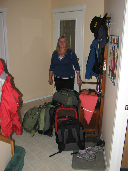 Packed for the trip and ready to go.