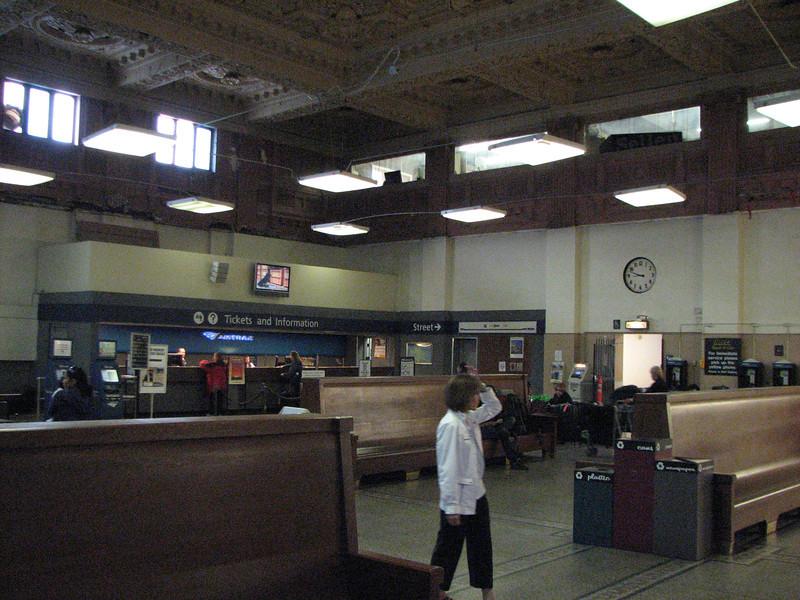 Inside the King Street Station. Revovations are still underway.