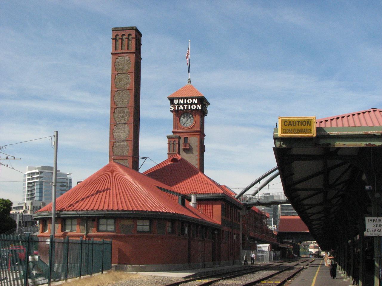 The beautiful Portland station.