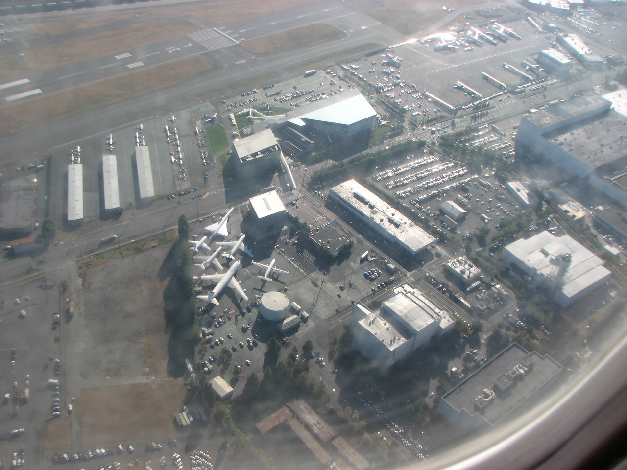 Over the Boeing Museum.