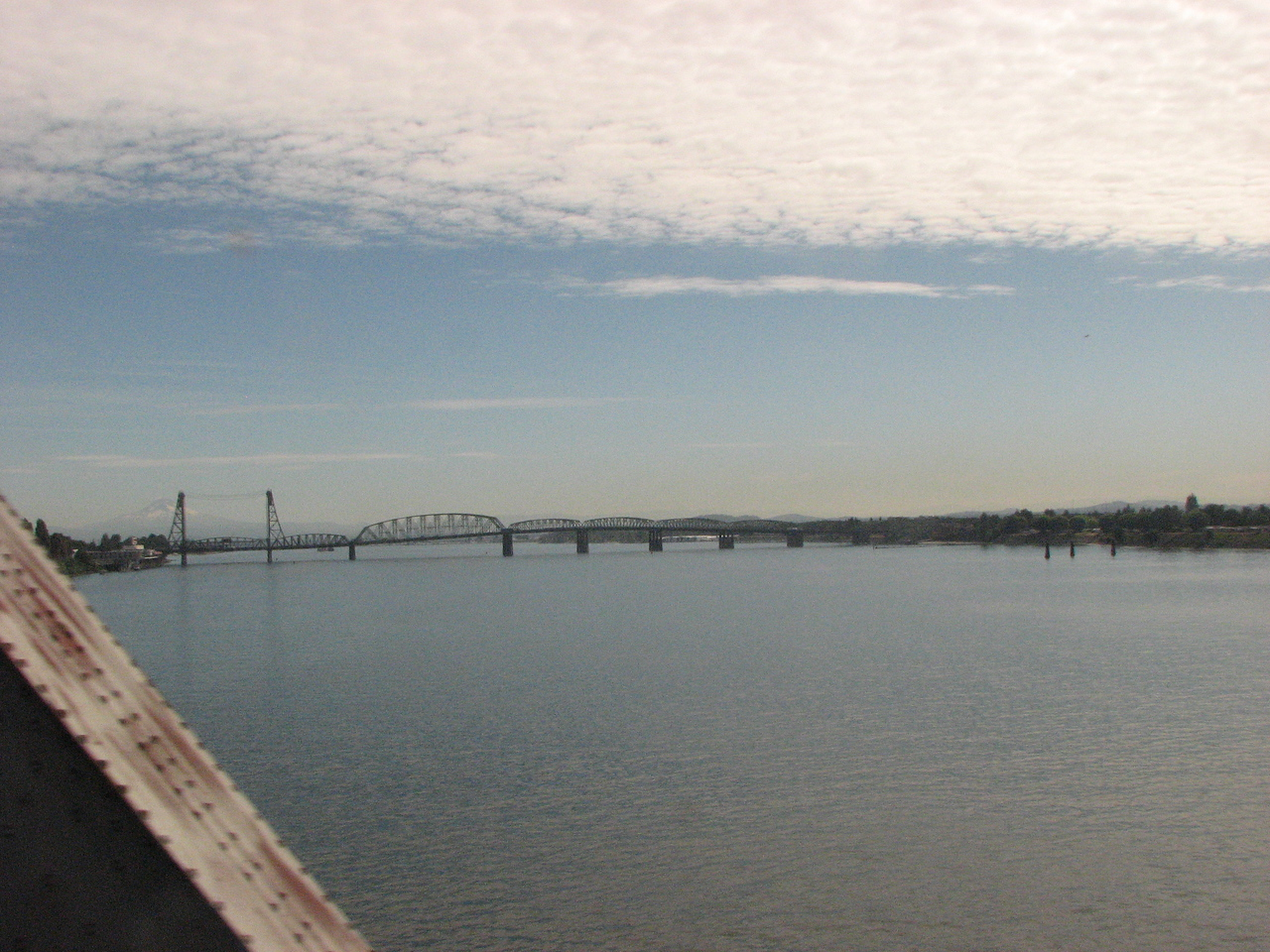 Crossing the Columbia for the first time.