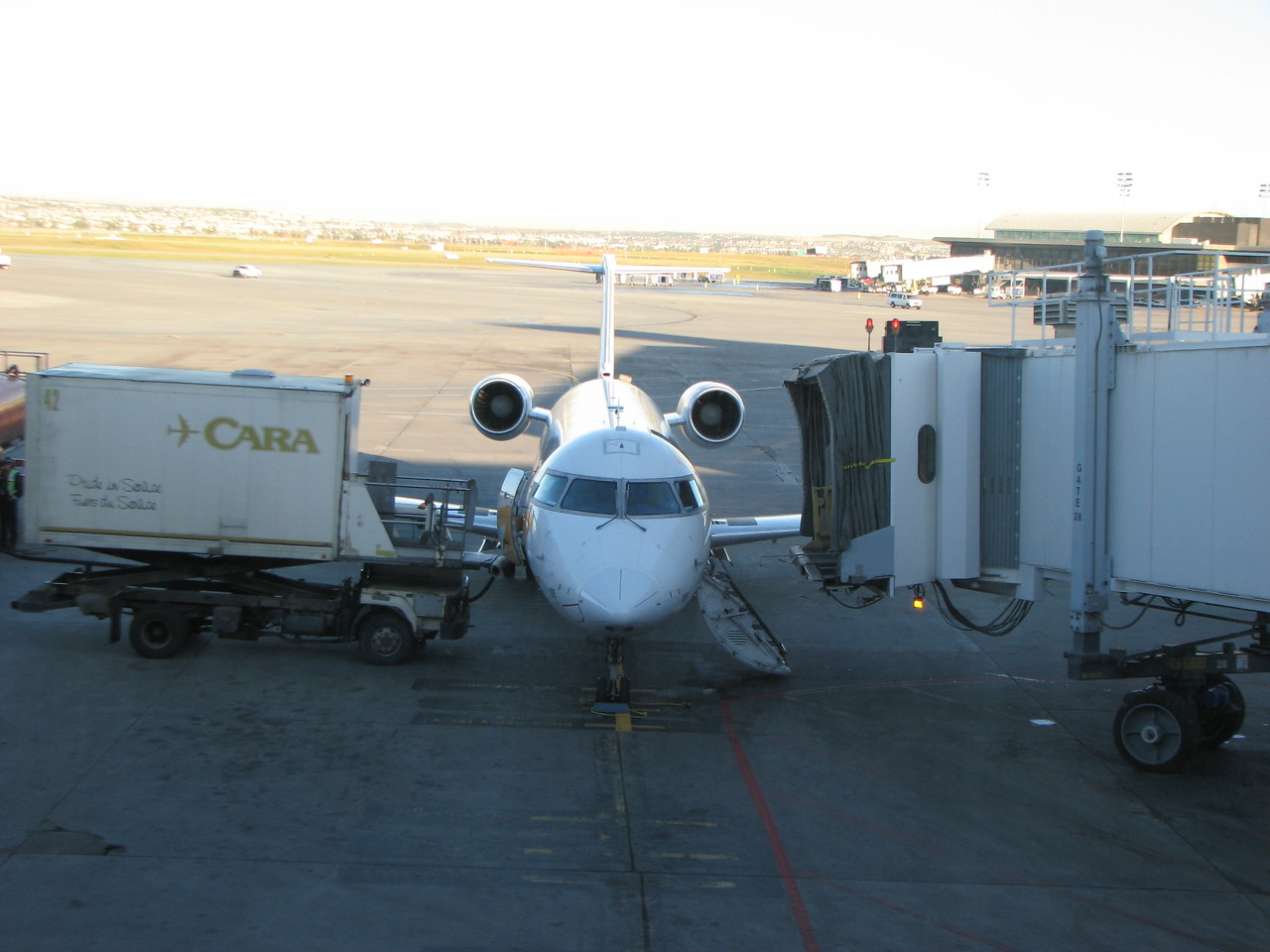 This is our small Air Canada plane bound for Seattle.