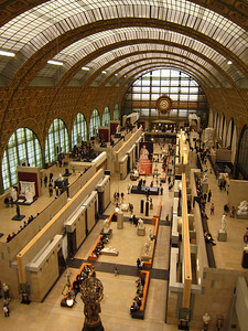 Inside the Musee D'Orsay, a former train station containing French art from 1848-1914