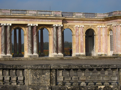 Grand Trianon, Louis XIV's getaway palace, a study in pink and yellow granite