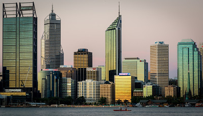Perth Skyline from the Swan River