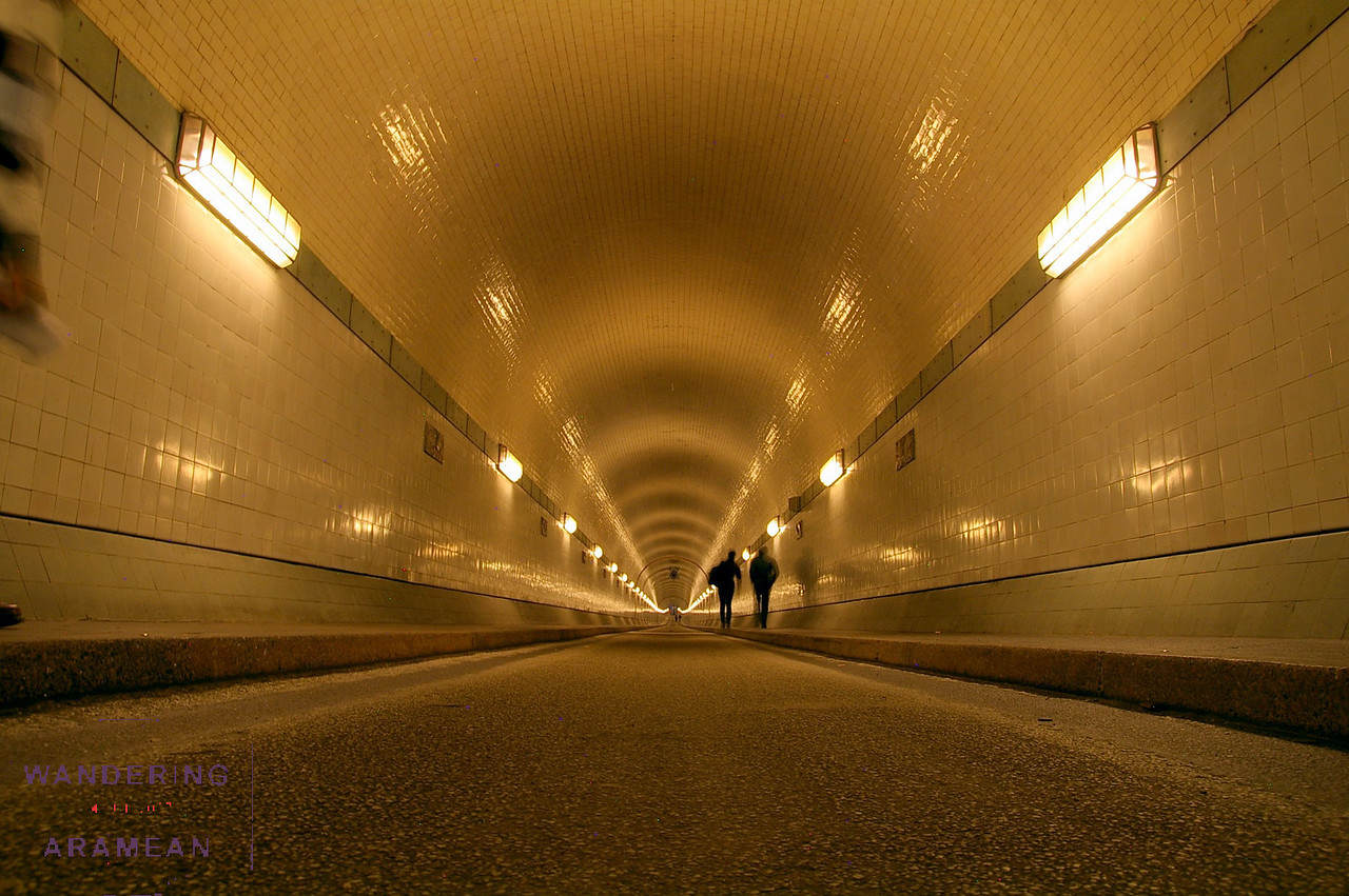 Walking the length of the 98 year old Elb Tunnel under the river Elbe
