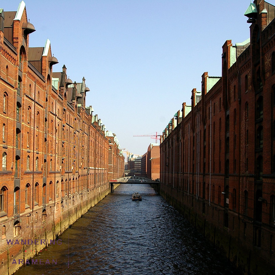 Some of the many warehouses in the Speicherstadt district