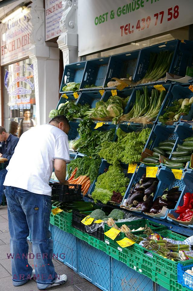 A market in Schanzenviertel