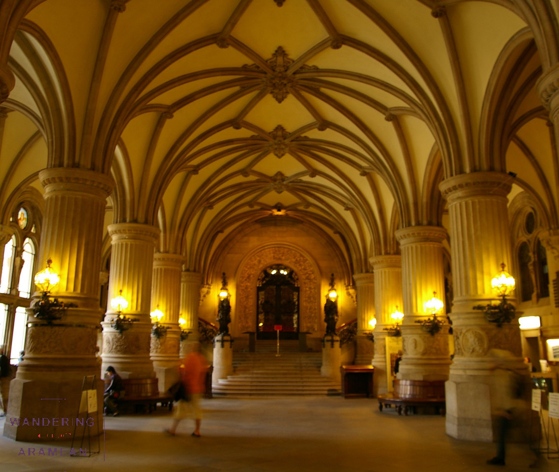 The interior of the Rathaus