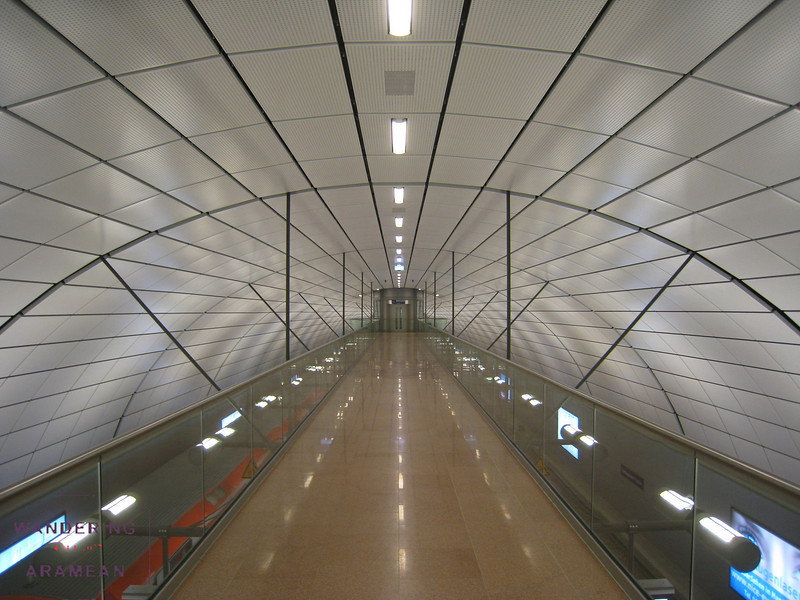 The S-bahn station at Hamburg airport