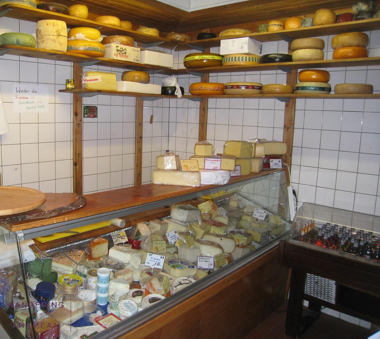 A cheese shop in the Schanzenviertel neighborhood