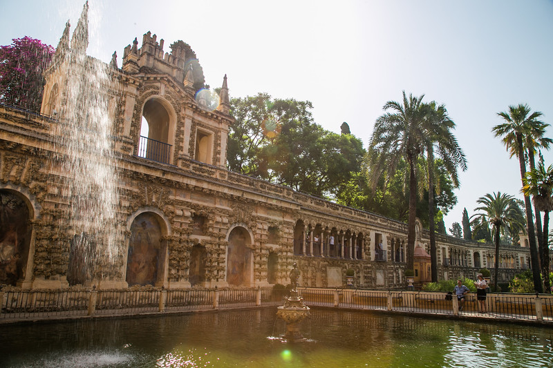 The gardens of the Real Alcazar of Seville, aka the water gardens of Dorne