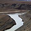 Confluence of the Zanskar and Indus rivers.