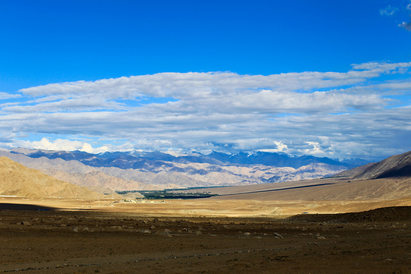 Leh in the distance.