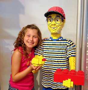 She was in Lego heaven!