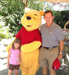 Papa, Lizzie and Pooh Bear