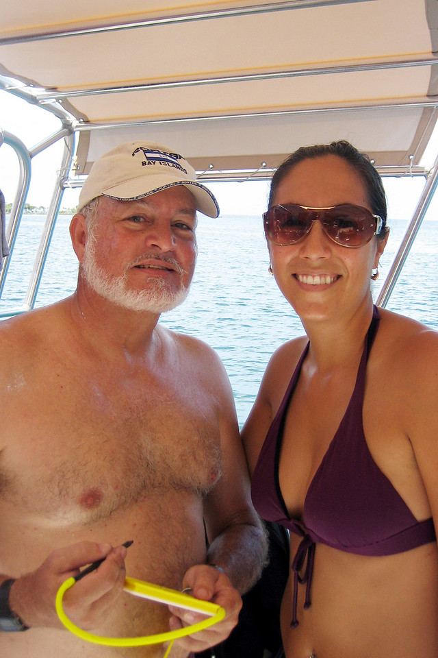 Papi and Ana, Thursday, Sept. 4, aboard the Nicolas.
