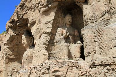 Buddha Statues, Yungang Caves, Datong, China.