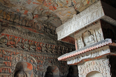 Pagoda Cave, Yungang Caves, Datong, China.