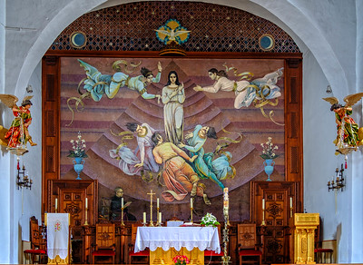 Interior of church in Competa