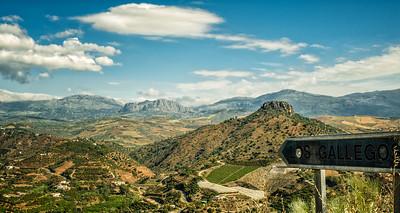 View towards Los Gallegos