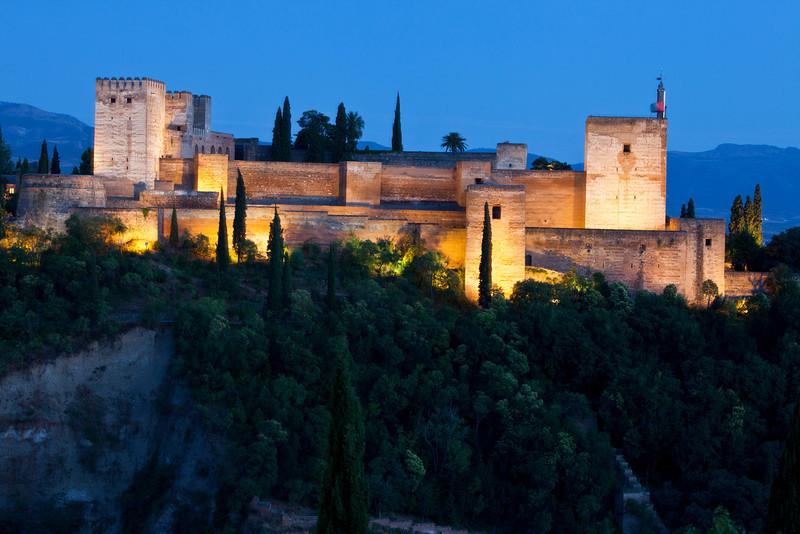 The Alcazaba at Night - Granada