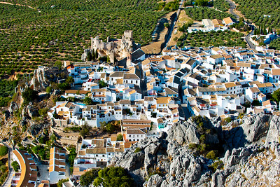 The white village of Zehuros in the mountains of Andalucia, Spain