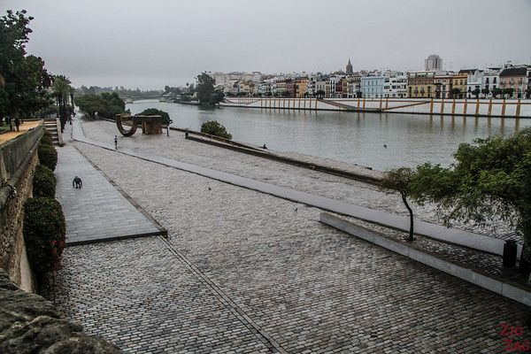 Bord de la rivière à Séville