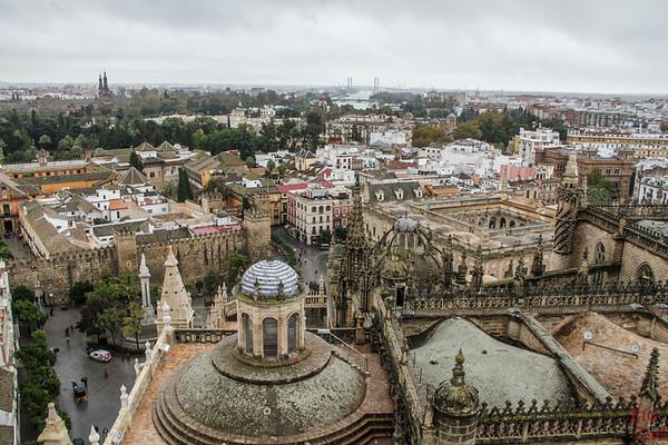 Vue depuis la tour de la cathédrale de Séville