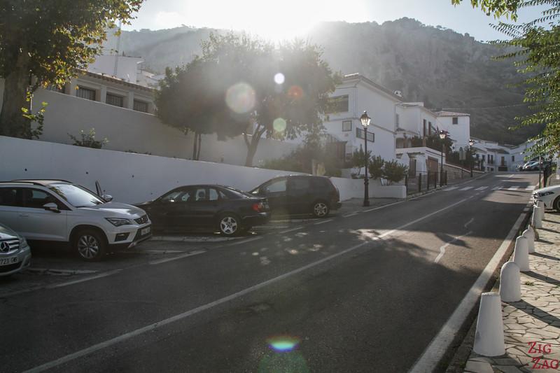carpark Zuheros Andalucia
