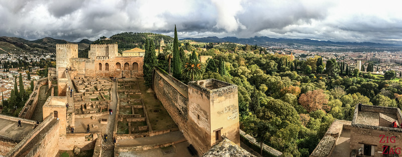 Vues sur Grenade depuis l'Alcazaba
