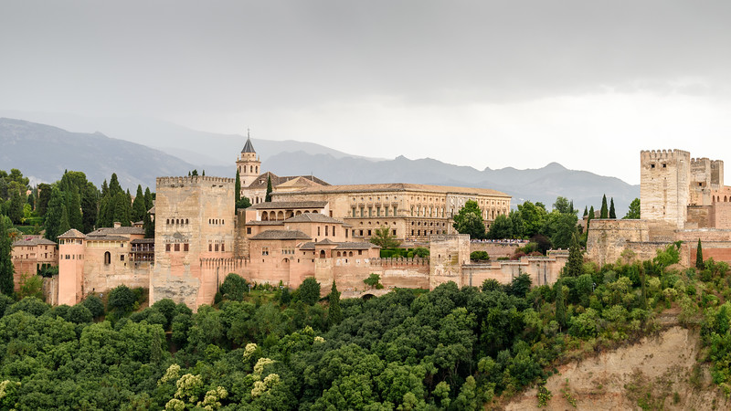 Alhambra with clouds