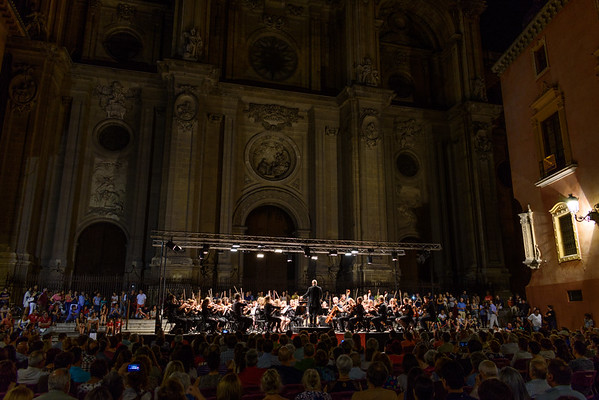 Concert in front of Granada Cathedral