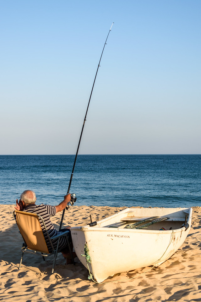 Fisherman on Praia Salema