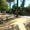 Iron benches outside the Mezquita in Cordoba.