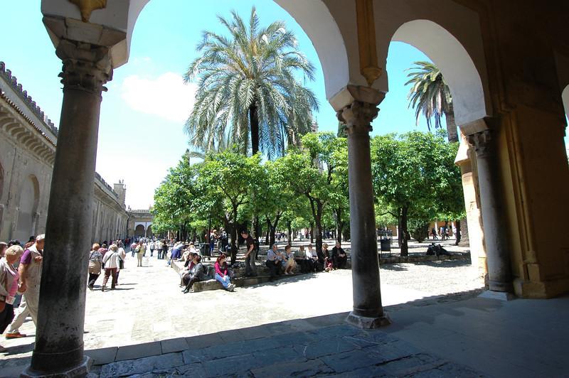 The interior plaza.
