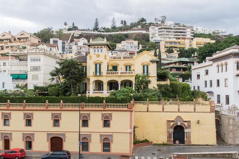Utsikt från hotellet i Malaga
