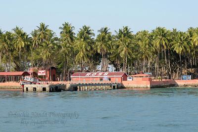Jetty at Ross Island at Port Blair, A&N, Andaman & Nicobar, India.