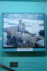 Jarawa woman with her collection, fish & shell.  Zonal Anthropological Museum of Anthropological Survey of India, Ministry of Tourism and Culture, Government of India, Port Blair, A&N, Andaman & Nicobar, India. 744101.