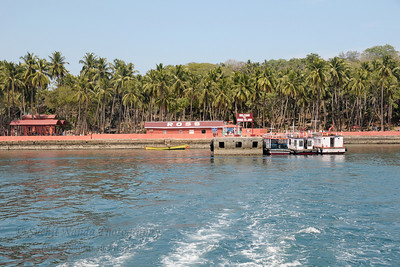 Boat ride from Ross Island to Port Blair, A&N, Andaman & Nicobar, Islands, India