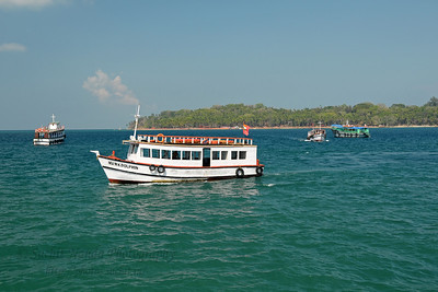 On the way to Ross Islands by boat from Port Blair, A&N, Andaman & Nicboar Islands of India.
