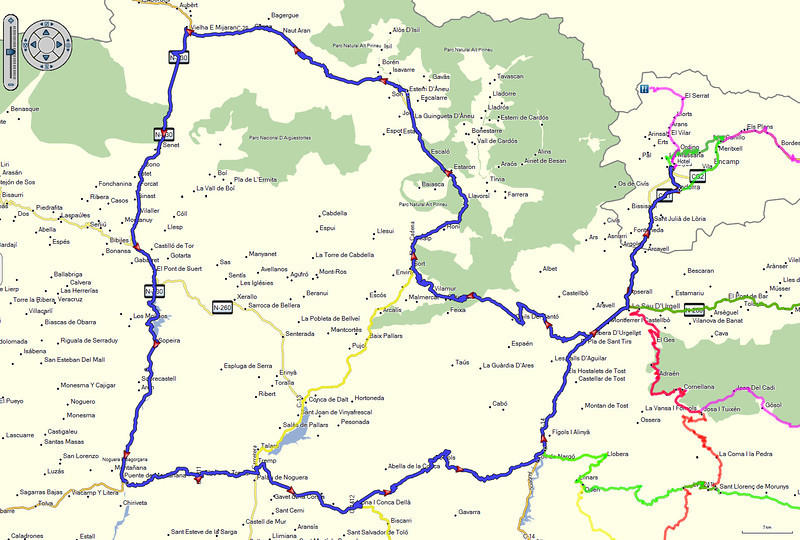 Andorra 2014 - De route van dinsdag