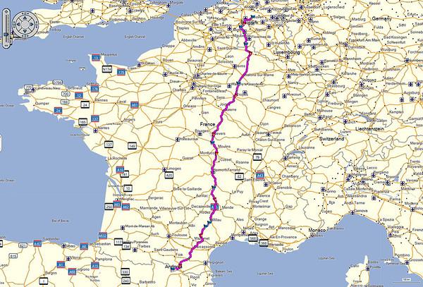 Andorra 2014 - De heen- en terugreis (telkens 2 dagen)