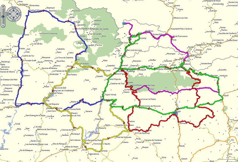 Andorra 2014 - De routes voor de komende week