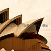 The Opera House in sepia