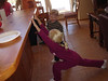 Ellie performs morning calisthenics (1/12/08)